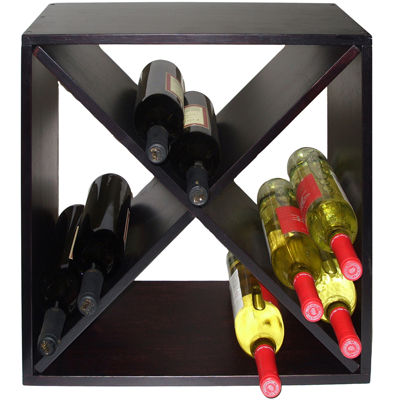 Diamond Bind Countertop Wine Rack