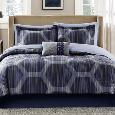 Madison Park Pierce Complete Bedding Set with Sheets