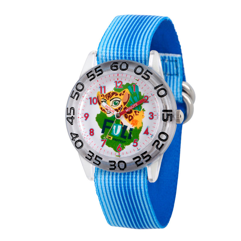 Disney Collection Lion Guard Girls Blue Plastic Nylon Strap Watch