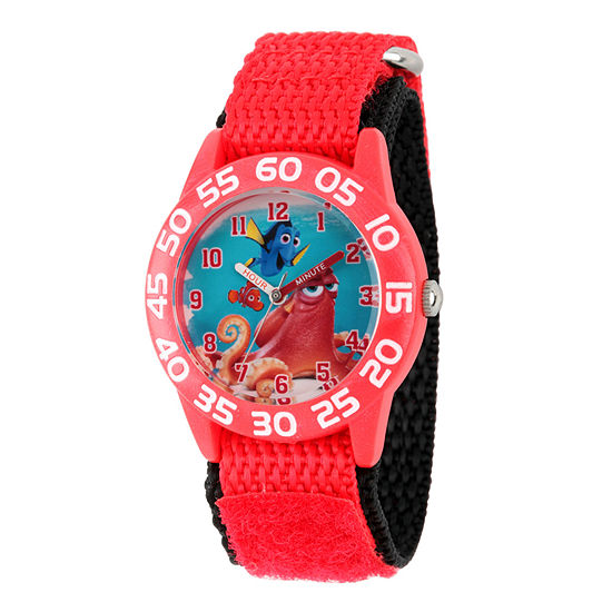 Disney Collection Boys Red Numbered Bezel Finding Dory Fast Strap Watch