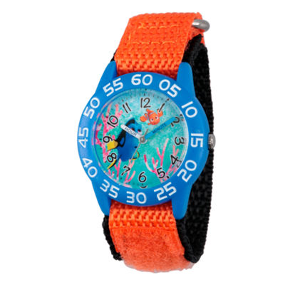 Disney Collection Boys Orange & Blue Numbered Bezel Finding Dory Strap Watch