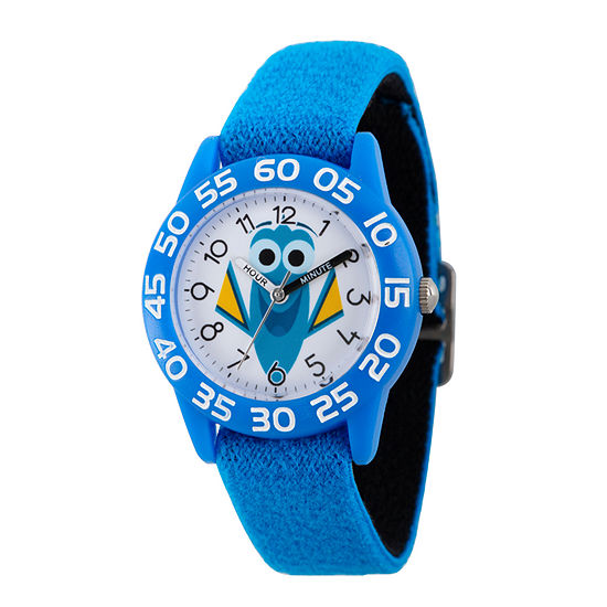 Disney Collection Boys Blue White Numbered Bezel Finding Dory Strap Watch