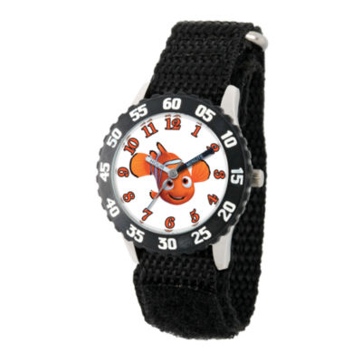Disney Collection Boys Black Numbered Bezel Finding Dory Nemo Fast Strap Watch