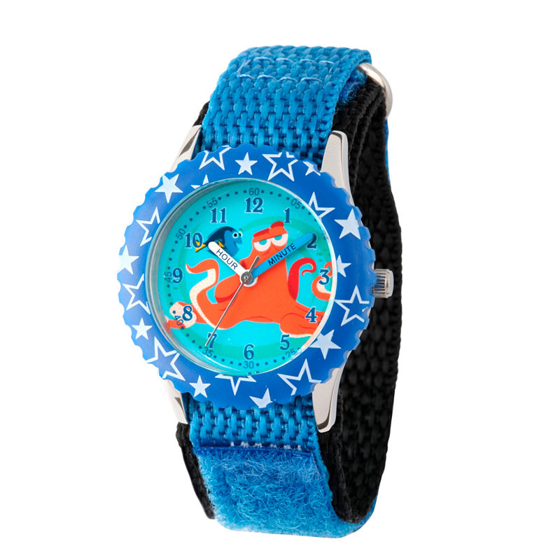 Disney Collection Boys Blue Finding Dory Fast Strap Watch
