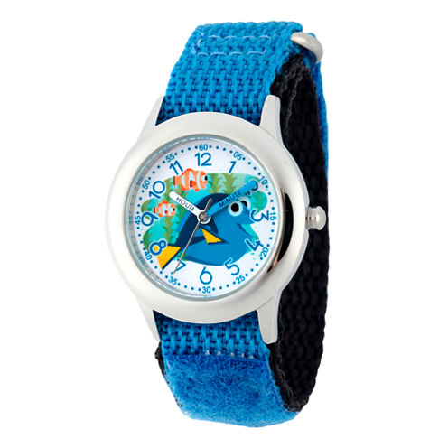 Disney Collection Boy Blue & Silver-Tone Finding Dory Strap Watch