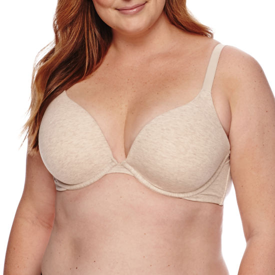 Ambrielle® Cotton Full-Figure Plunge Bra