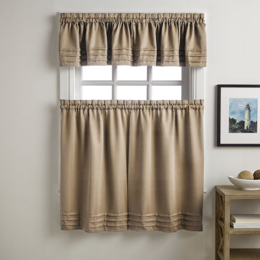 jcpenney.com | Addison Solid Twill Rod-Pocket Kitchen Curtains