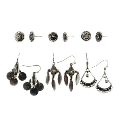 Decree 12-pc. White Earring Set