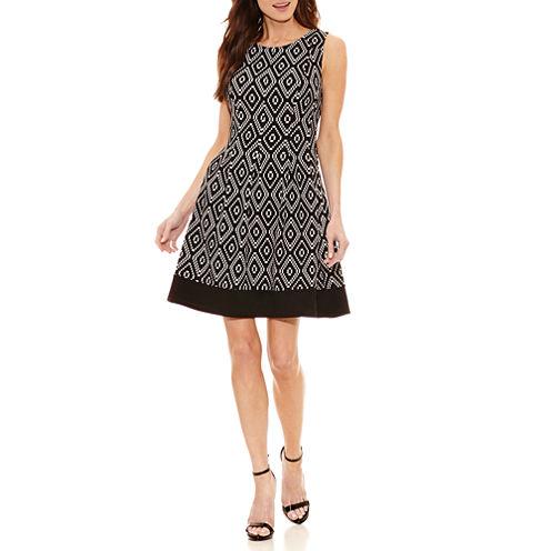 Alyx Sleeveless Diamond Fit & Flare Dress