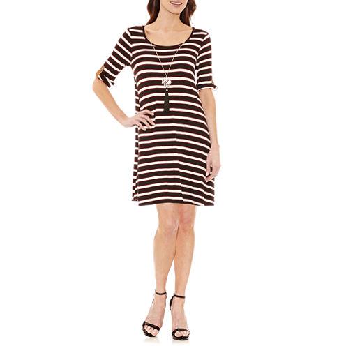 Alyx Elbow Sleeve Stripe Shift Dress