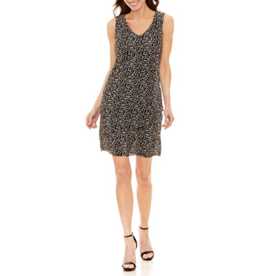 Alyx Sleeveless Dots Shift Dress