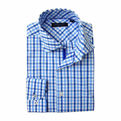 Andrew Fezze Long Sleeve Poplin Pattern Dress Shirt - Slim