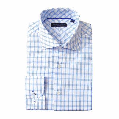 Andrew Fezze Long Sleeve Poplin Pattern Dress Shirt - Slim