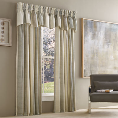 Queen Street Vaughn Stripe Rod-Pocket Curtain Panel