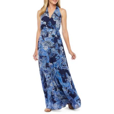 Be by CHETTA B Sleeveless Paisley Maxi Dress