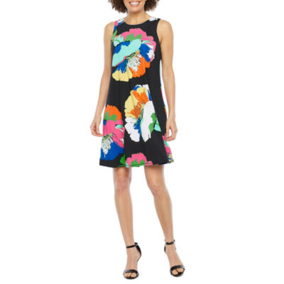 R & K Originals Sleeveless Floral Shift Dress