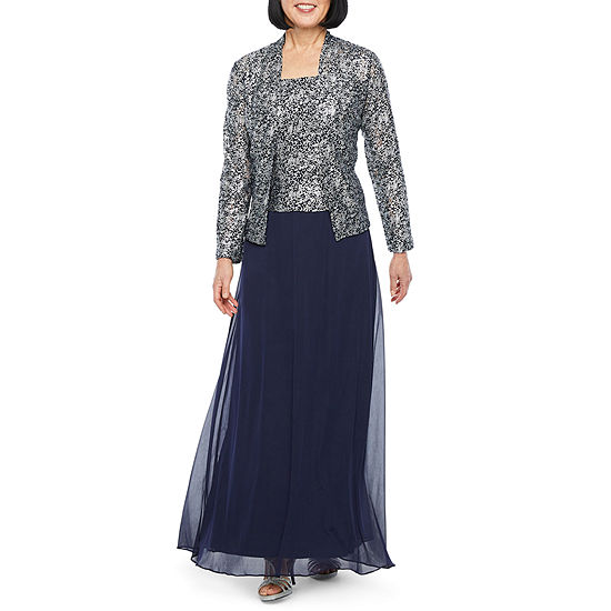 Jackie Jon Long Sleeve Sequin Jacket Dress