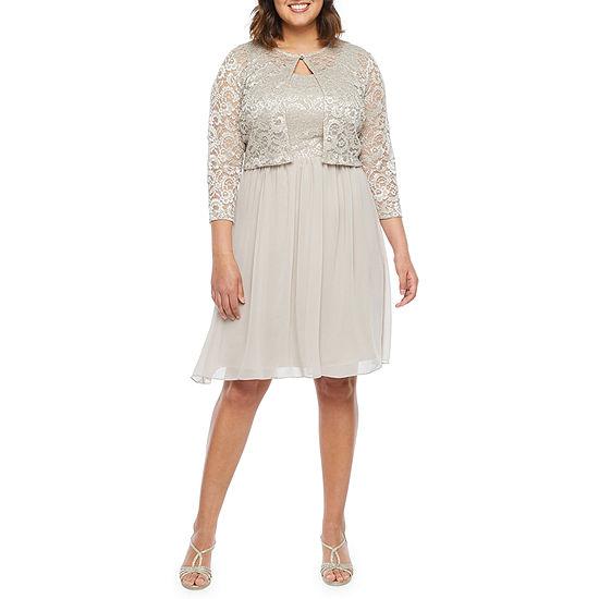 Scarlett 3/4 Sleeve Lace Jacket Dress