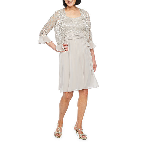 Scarlett 3 4 Sleeve Lace Jacket Dress