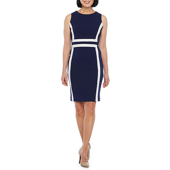 Liz Claiborne Sleeveless Midi Sheath Dress
