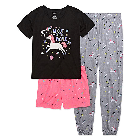 Arizona 3 Pc Unicorn Universe Pajama Set Big Girls Plus