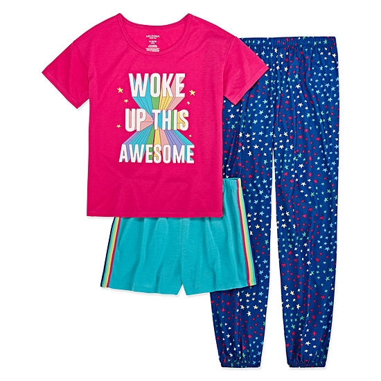 Arizona 3-pc. Woke Up Awsome Pajama Set -  Big Girls & Plus