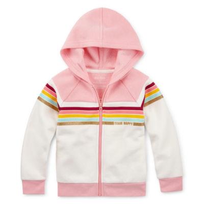Okie Dokie Girls Cap Sleeve Hoodie-Toddler