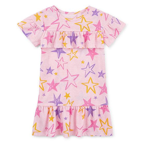 Okie Dokie Toddler Girls Short Sleeve Shift Dress