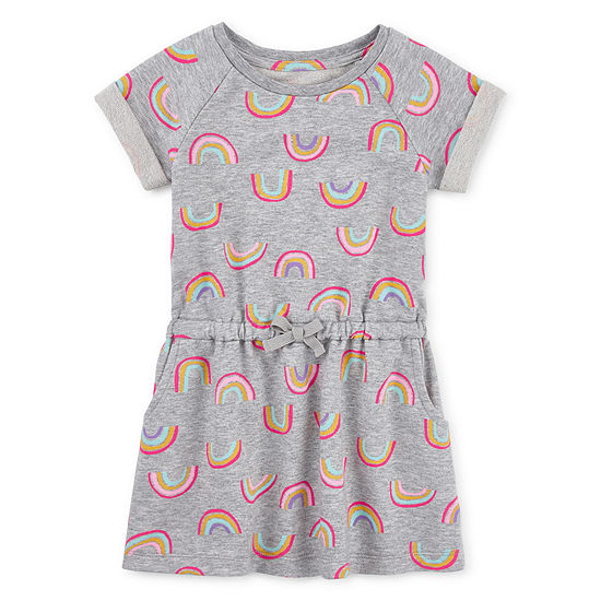 Okie Dokie Girls Short Sleeve Shift Dress - Toddler
