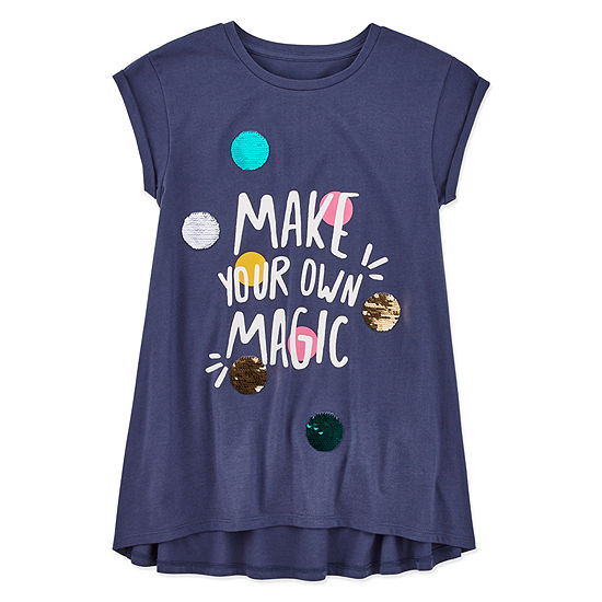 Arizona Girls Scoop Neck Short Sleeve Tunic Top Preschool / Big Kid