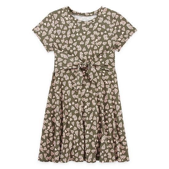 Arizona Short Sleeve Skater Dress - Preschool / Big Kid Girls