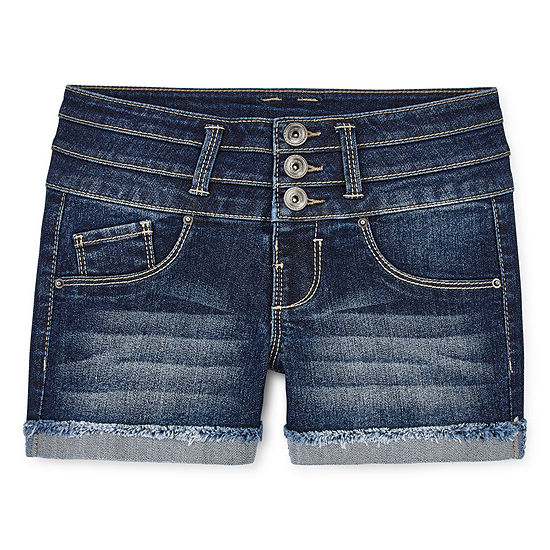 Blue Spice Girls Mid Rise Shortie Short - Big Kid