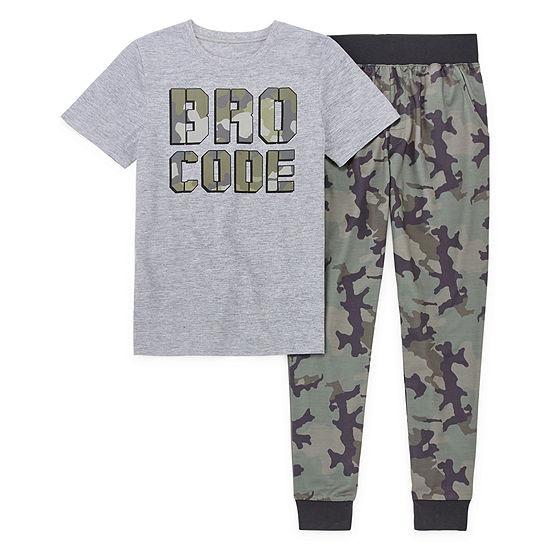 Arizona 2 Pc Pajama Set Preschool Big Kid Boys