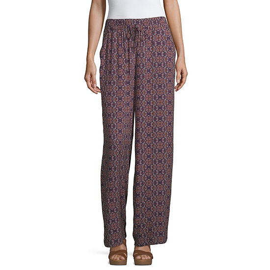 Bebop Womens Wide Leg Drawstring Pants - Juniors