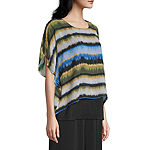 east 5th Womens Short Sleeve Poncho