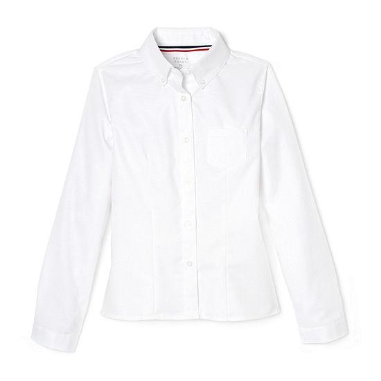 French Toast Little & Big Girls Long Sleeve Button-Down Shirt