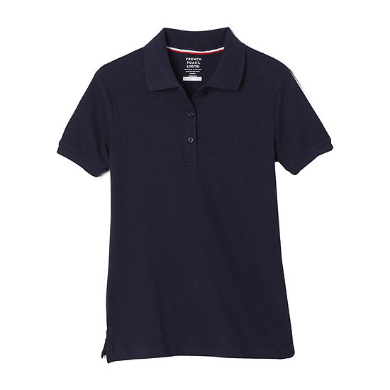 French Toast Little & Big Girls Short Sleeve Polo Shirt