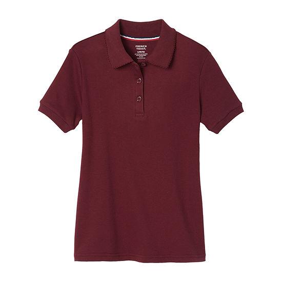 French Toast Big Girls Short Sleeve Polo Shirt