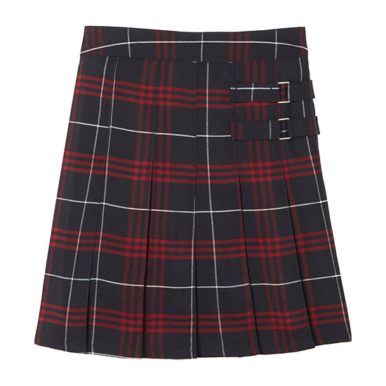 French Toast Plaid Little & Big Girls Scooter Skirt