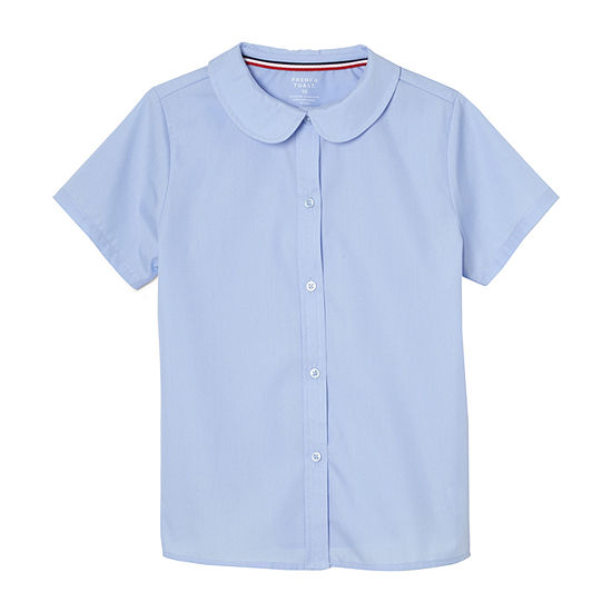 French Toast Short Sleeve Peter Pan collar Blouse - Girls 4-20 and Plus