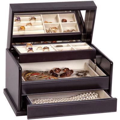Mele & Co. Juliette Java-Finish Wooden Jewelry Box