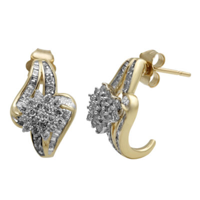 3/4 CT. T.W. Diamond In 10K Yellow Gold Earring