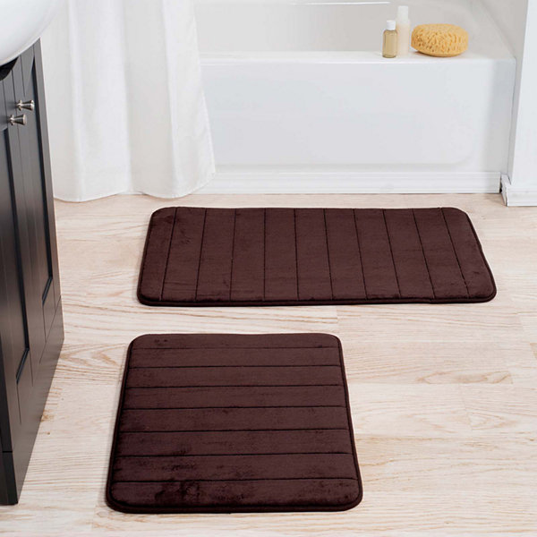 Cambridge Home 2-pc. Striped Memory Form Bath Rug Set