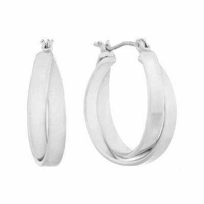 Gloria Vanderbilt Gray Hoop Earrings