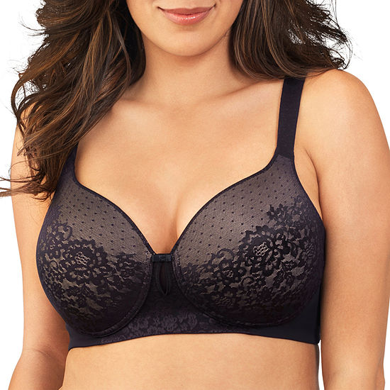 055e1b56b90 Vanity Fair Flattering Lift All Over Lace Full Figure Wirefree Bra 71262  JCPenney