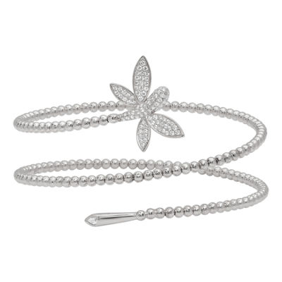 Diamonart Womens Cubic Zirconia Sterling Silver Wrap Bracelet
