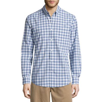 St. John's Bay Long Sleeve Grid Button-Front Shirt