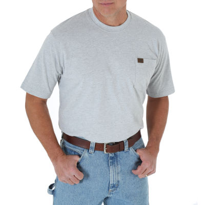 Wrangler Riggs Pocket Mens Crew Neck Short Sleeve T-Shirt