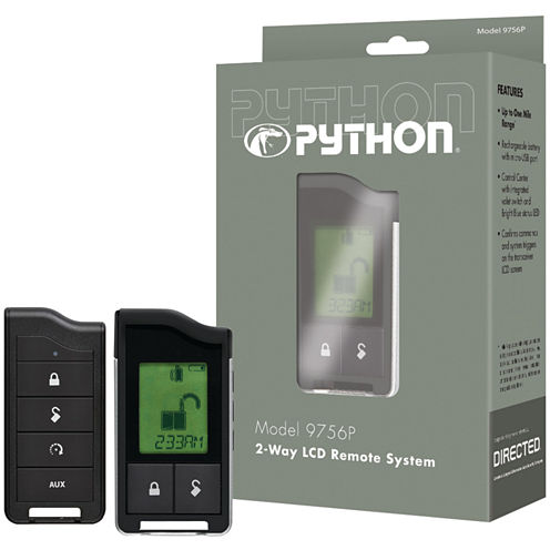 Python 9756P 9756P 2-Way LCD RF Remote & Antenna with 1-Mile Range