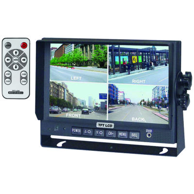 CrimeStopper Security Products SV-8900.QM.II 7IN Color LCD Monitor with Built-in Quad View